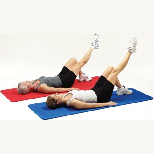 Workout Mat 5 Below: Thera-Band Exercise Mat 2.5 Cm Blue 25056